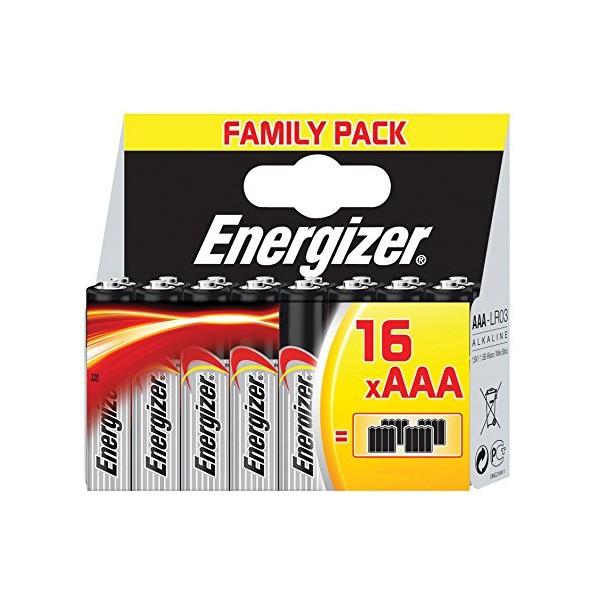 Energizer 628123 Battery Alkaline Aaa-lr03 1.5 V Classic 16-pack