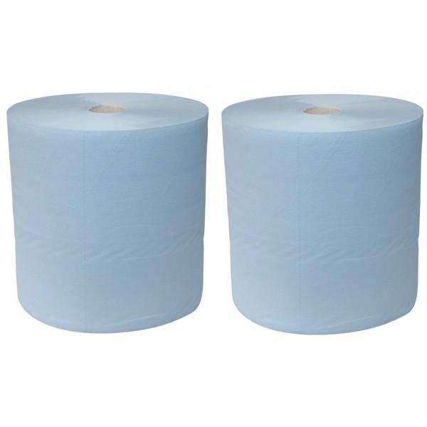 Euro Products Industriepapier Blauw 1000 Meterx23 cm 2 Rollen