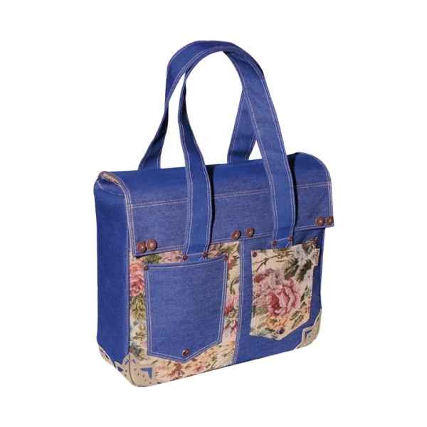 FastRider shopper Denim 17 liter blauw