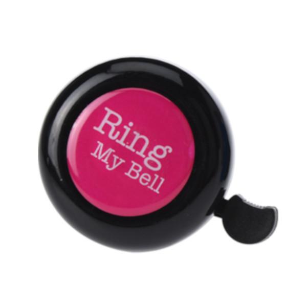 Free and Easy fietsbel zwart/roze 53 mm ring my bell