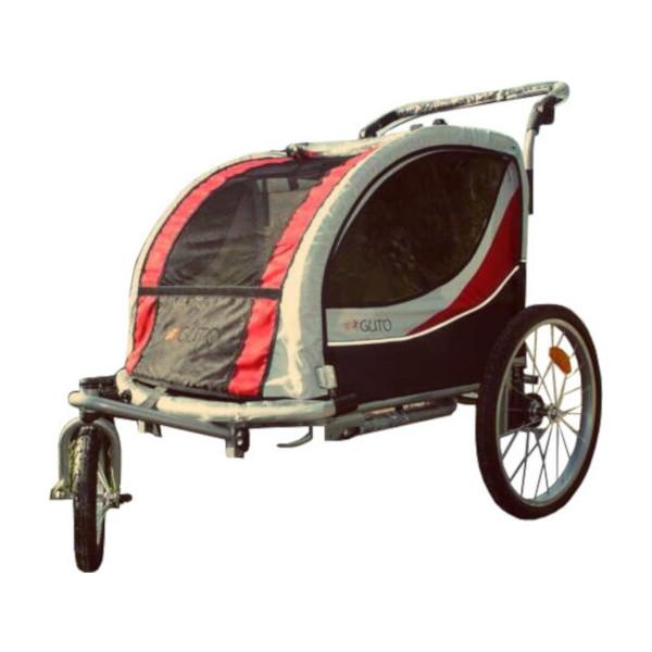 Guto Deluxe 16 Inch Junior Zwart/Rood