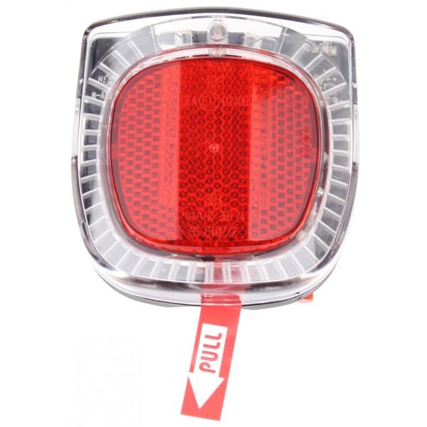Herrmans Achterlicht LED H Flame On-Off Batterij 50mm Zwart