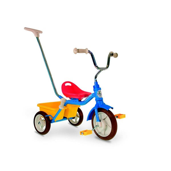 Italtrike colorama passenger driewieler 10 Inch Junior Vrijloop Blauw