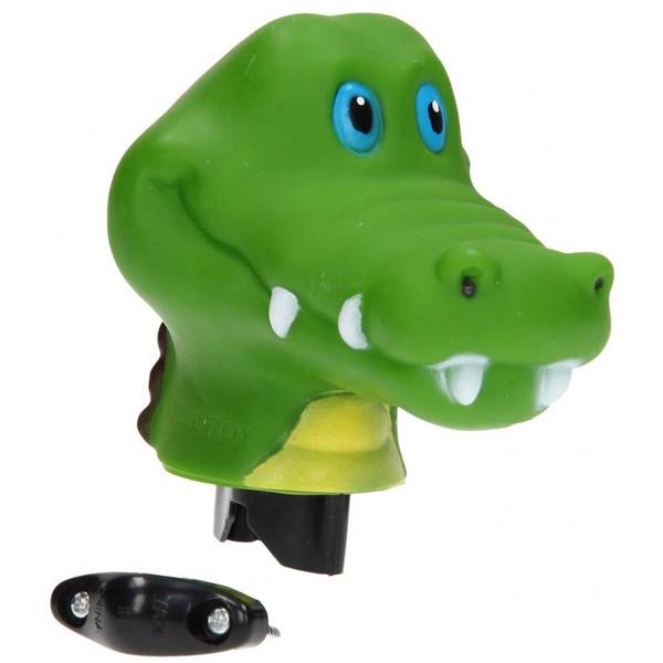 Johntoy fietstoeter krokodil groen 9 cm thumbnail