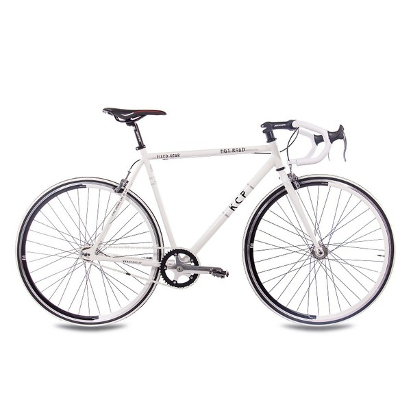KCP Fixed Gear 28 Inch 59 cm Heren Knijprem Wit