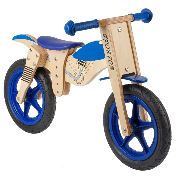 Kids Club Loopfiets balance 12 Inch Junior Blauw-Blank