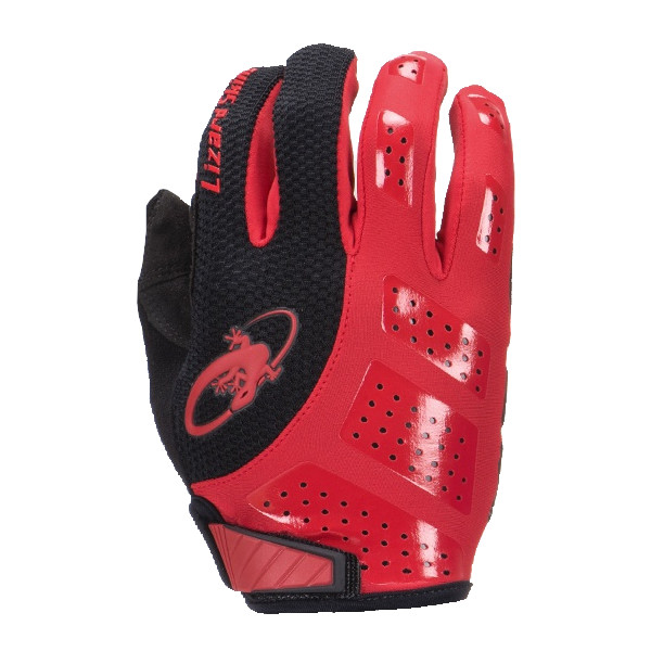 Lizard Skins fietshandschoenen Monitor SL Gel zwart/rood mt 7