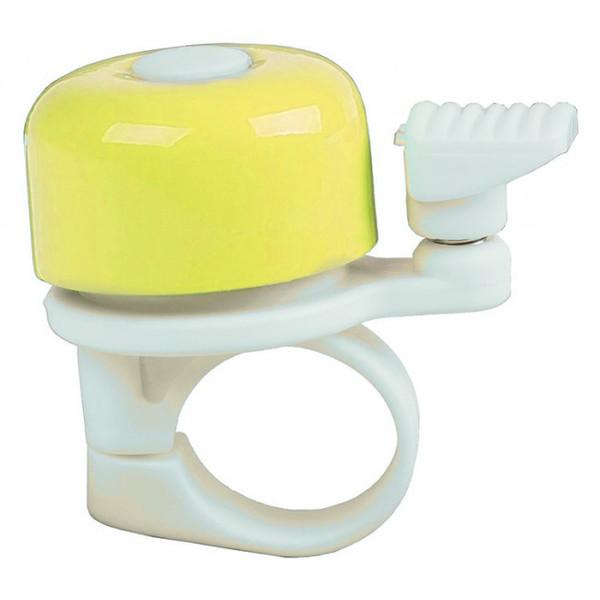 M Wave fietsbel mini 34 mm geel Onderdelen & Accessoires aanschaffen doe je het voordeligst hier