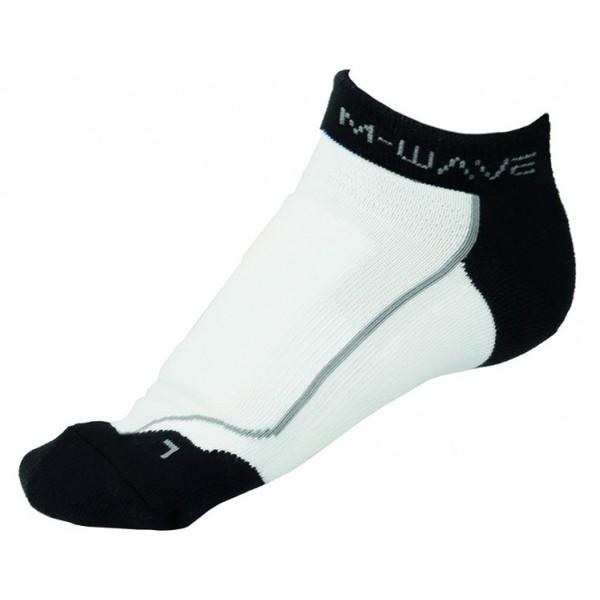 M Wave Sportsokken Road Sock Wit Zwart Maat 43-46