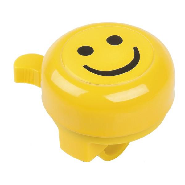M Wave Stalen Fietsbel 3D Afbeelding Smiley Geel Onderdelen & Accessoires aanschaffen doe je het voordeligst hier