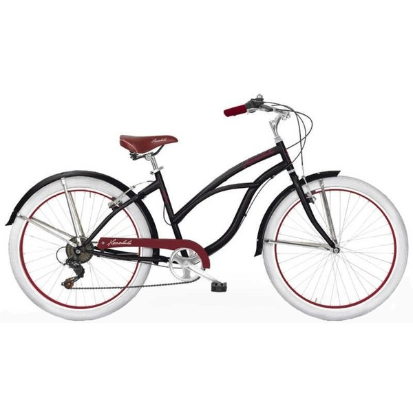 MBM Honolulu 26 Inch 45 cm Dames 6V V Brake Zwart