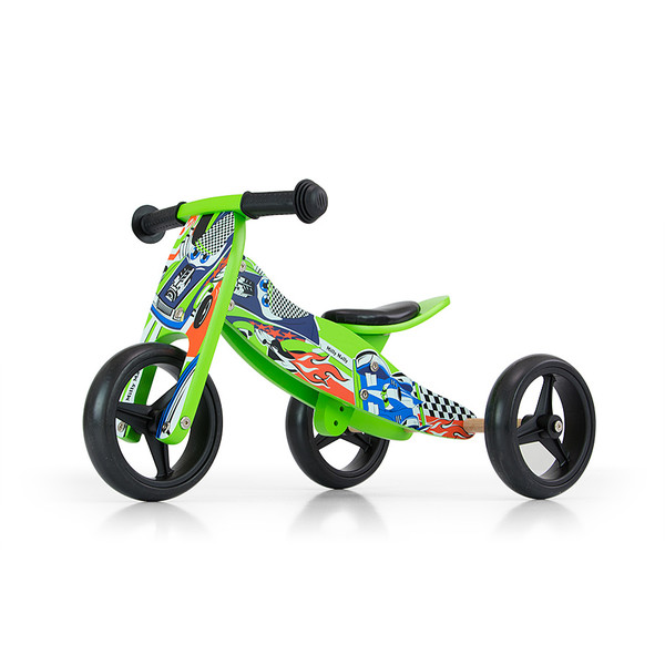 Milly Mally 2 in 1 loopfiets Jake Cars Junior Groen