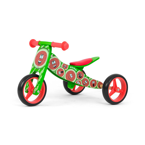 Milly Mally 2 in 1 loopfiets Jake Watermeloen Junior Groen/Rood