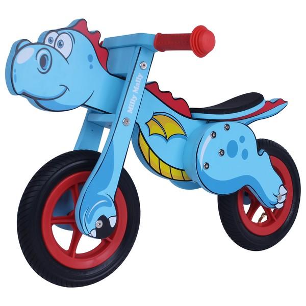 Milly Mally Dino Mini loopfiets 12 Inch Junior Blauw