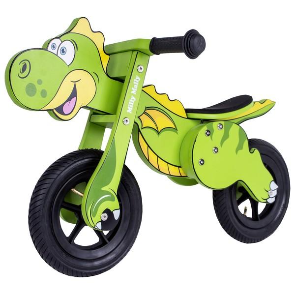 Milly Mally Dino Mini loopfiets 12 Inch Junior Groen