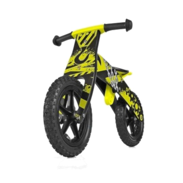 Milly Mally loopfiets Flip Construction 12 Inch Junior Geel