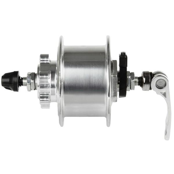 Novatec Naafdynamo 36 Gaats 6V 3W Met QR Aluminium Zilver