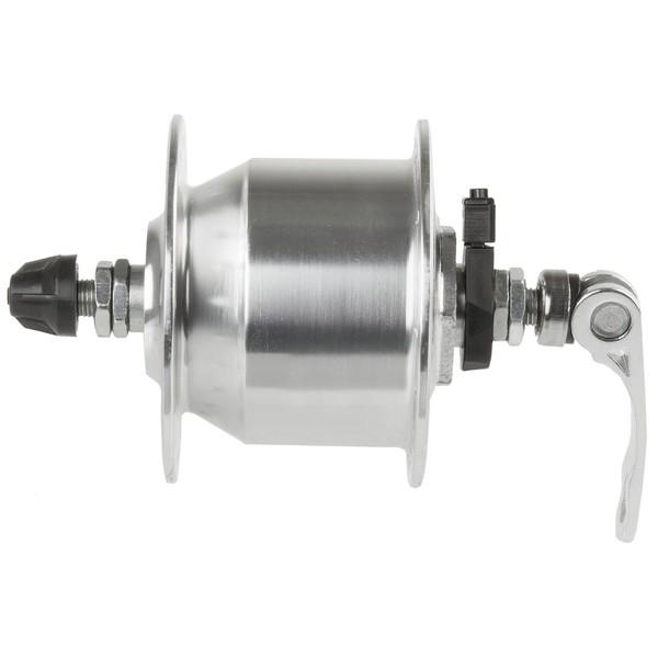 Novatec Naafdynamo 36 Gaats Aluminium Met QR 6V 3W Zilver