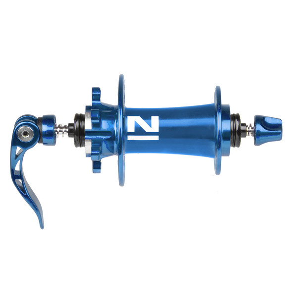 Novatec voornaaf D791SB schijfrem 32 gaats blauw