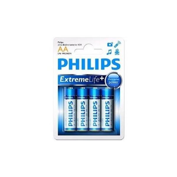 Philips LR6E4B AA ALKALINE