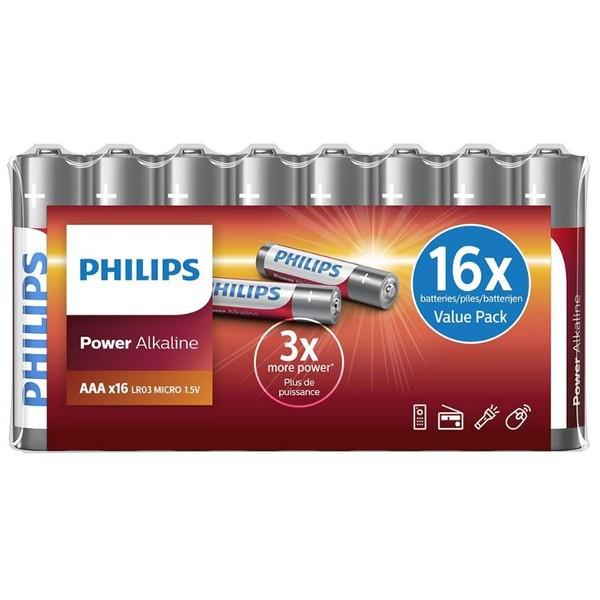 Power Alkaline AAA Batterijen (16 stuks)