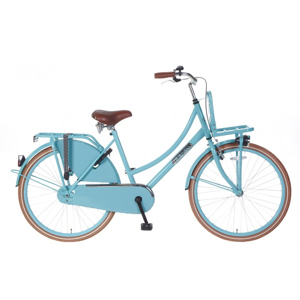 Popal Daily Dutch Basic 26 Inch 46 cm Dames Terugtraprem Turquoise