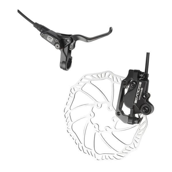 Promax Hydraulisch Schijfremset Solv3 Aluminium 160 mm Zwart