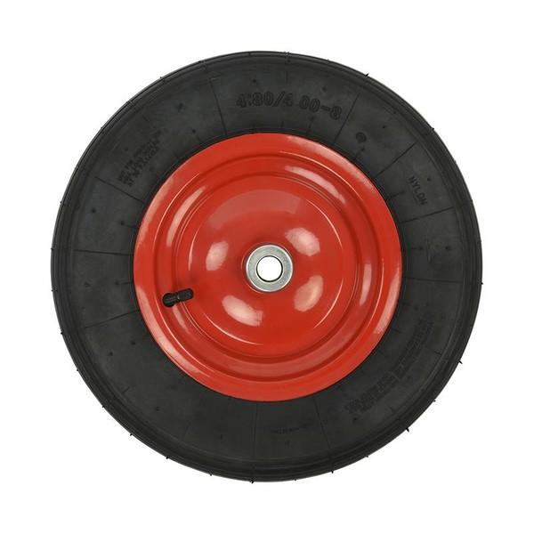 ProPlus kruiwagenwiel rubber/staal 16 inch zwart/rood