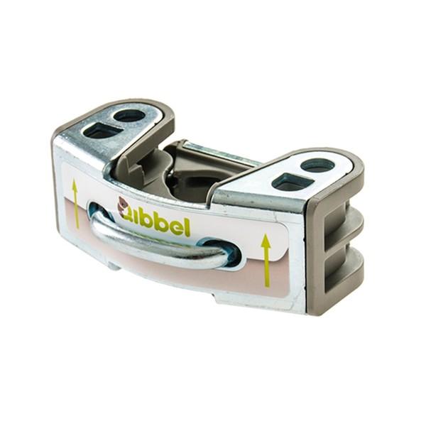 Qibbel bevestigingbeugel Q242 fietszitje voor 10 cm zilver