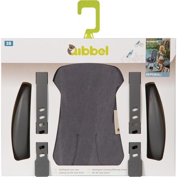 Qibbel stylingset voor Qibbel fietszitje voor Canvas grijs Q528