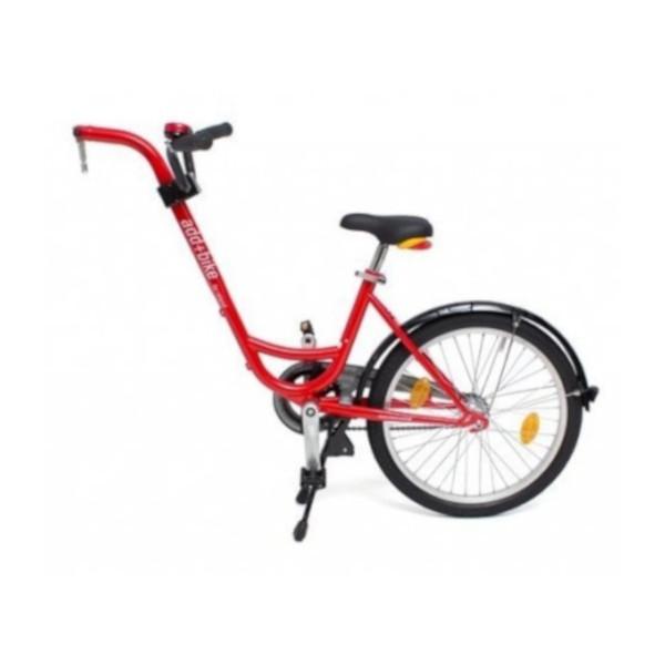 ADD+ MeeFiets (bev.a-drager) freewheel rood