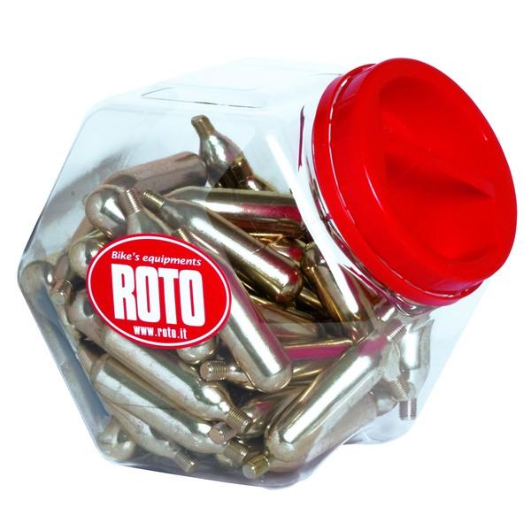 Roto Co2 Patronen 12gram Met Schroefdraad 60 Stuks