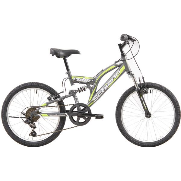 Schiano Rider 20 Inch 35 cm Jongens 6V V Brake Antraciet/Groen