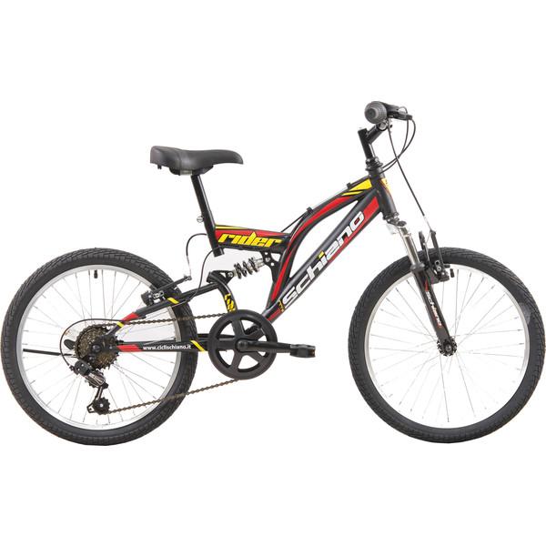 Schiano Rider 20 Inch 35 cm Jongens 6V V Brake Zwart/Rood
