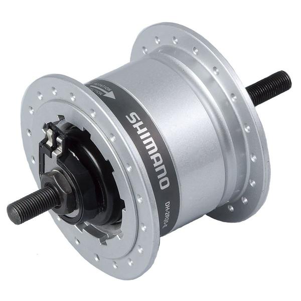 Shimano naafdynamo voor DH 2R35 E rollerbrake zilver thumbnail