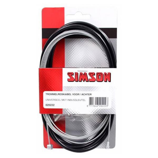 Simson tr remkabelset v-a zwart