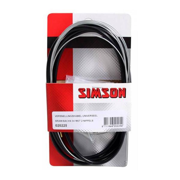 Simson versn kabel uni 3 versnellingen zwart