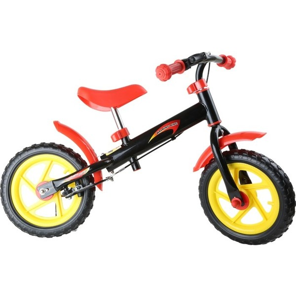Small Foot Loopfiets Bliksem 12 Inch Junior Zwart/Rood