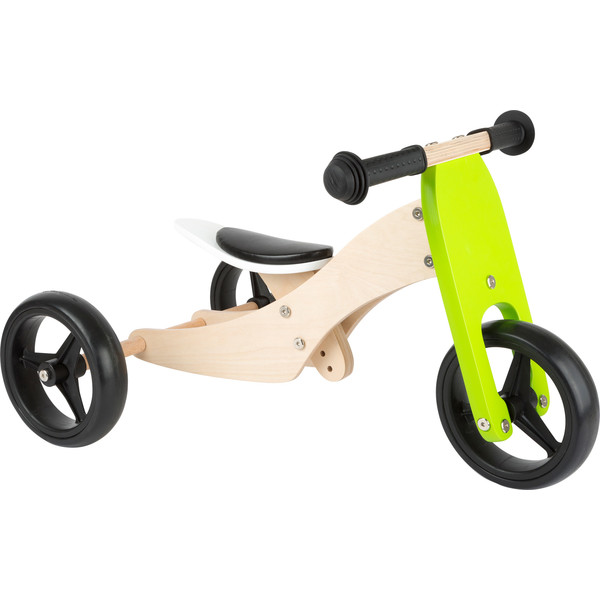 Small Foot Tricycle Trike 2 in 1 loopfiets 10 Inch Junior Groen