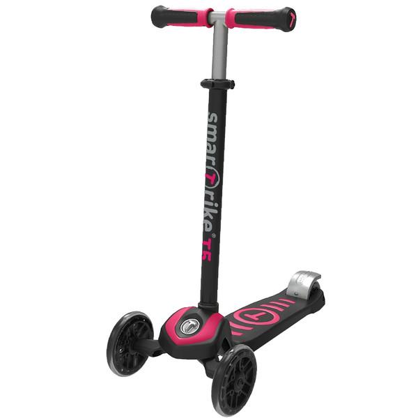 smarTrike Scooter T5 Meisjes Zwart/Roze thumbnail