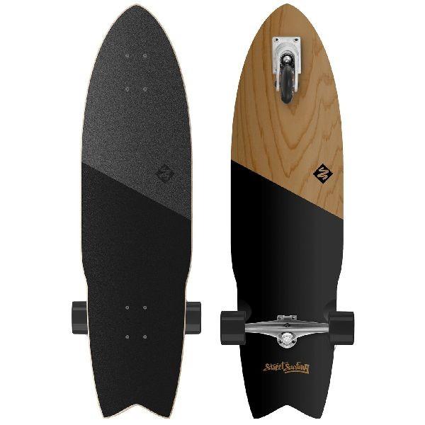 StreetSurfing zelfrijdend longboard Shark Attack Blank/Zwart thumbnail