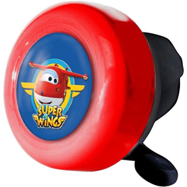 Super Wings fietsbel rood 55 mm