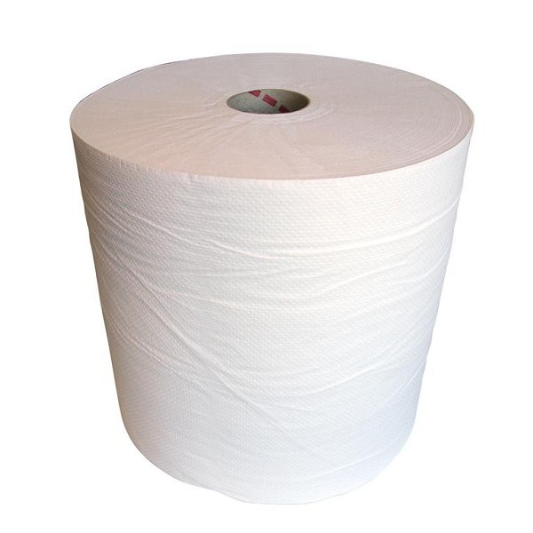 TOM papierrol 280 meter 2 laags papier wit
