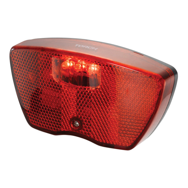 Torch achterlicht Tail Bright City 80 mm led batterij rood