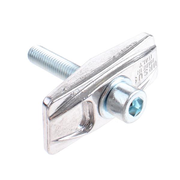 Ursus aluminium plaat met inbusbout M10x60 zilver