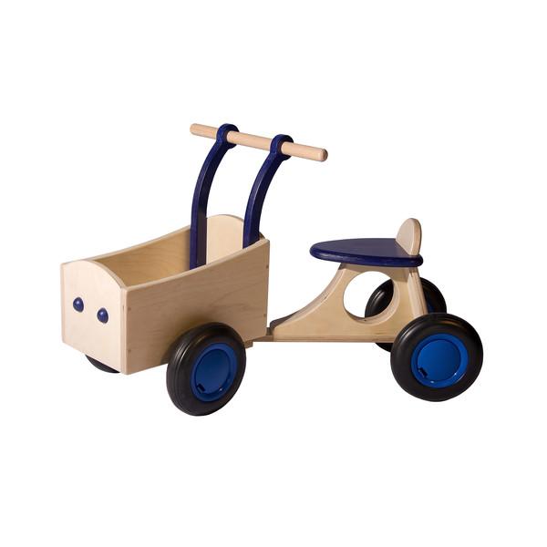 Bakfiets Hout Blauw, van Dijk Toys