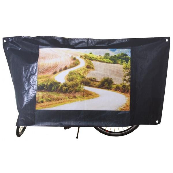 VK Color classic fietsbeschermhoes zwart 210x110cm