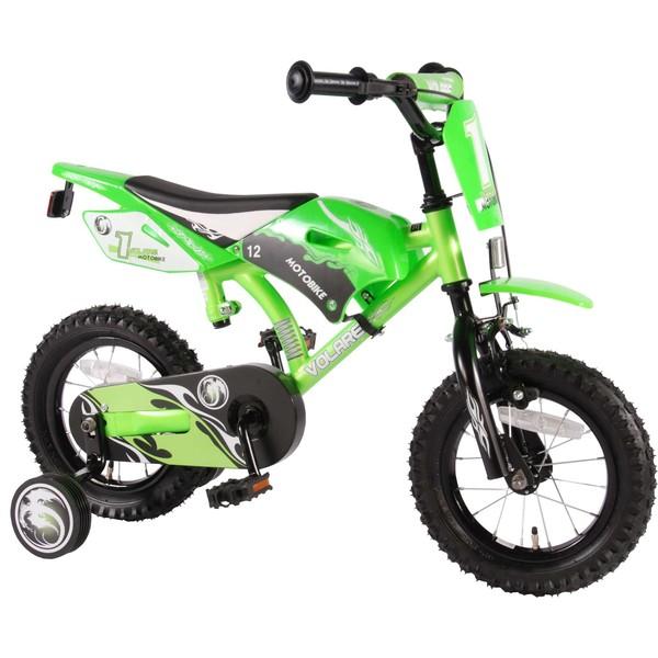 Volare Motobike jongensfiets 12 inch groen