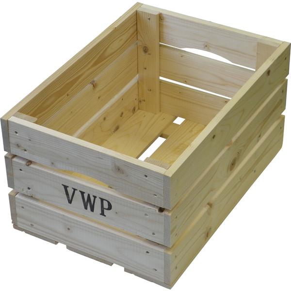 VWP fietskrat hout naturel 40 liter