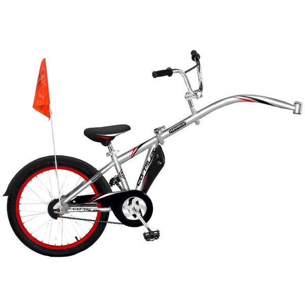 weeRide Co Pilot 20 Inch Junior Zilver
